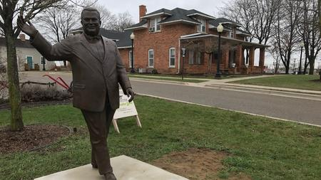 A statue of former Dearborn Mayor Orville Hubbard remains to many a symbol of the area's racial issues.Bill McGraw