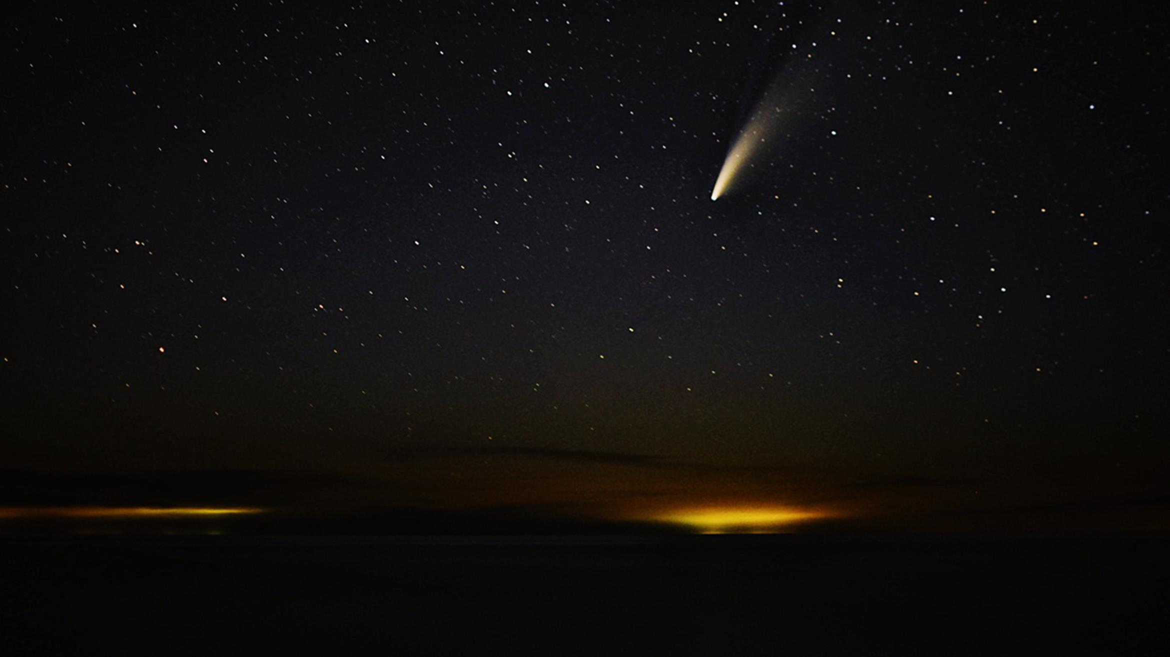 See Comet NEOWISE on the internet tonight in a Slooh webcast