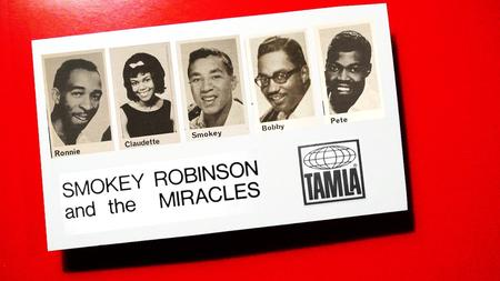 A postcard featuring The Miracles.Flickr user tomovox / Creative Commons