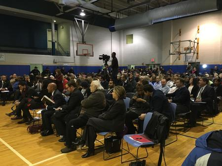 A public hearing about the refinery.Eli Newman / WDET