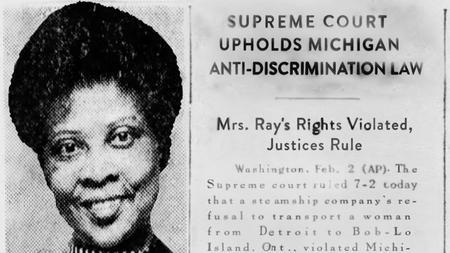 Une coupure de journal couvre la décision de la Cour suprême sur le cas de Sarah Elizabeth Ray.Courtoisie d'Aaron Schillinger