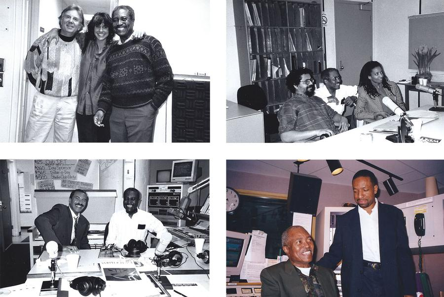 The WDET years, Upper Left: James Hartway, WSU Music, Ann Delisi and Ed LoveWDET