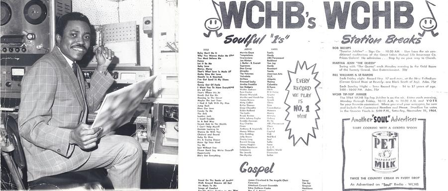 Left: 1965 WCHB 33 years-old, Right: WCHB playlistPhotos courtesy of Hazel Love