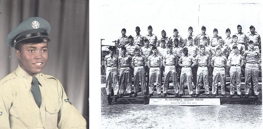 Left: 1952 Air Force, Right: 1953 Air Force -- Ed is on the second row, fourth from the leftPhotos courtesy of Hazel Love
