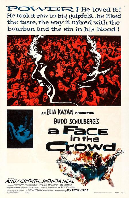 "The original theatrical poster for ""A Face in the Crowd"" released in 1957.Wikimedia Commons"