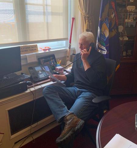 US Representative Jack Bergman in his office.  Office of Congressman Jack Bergman