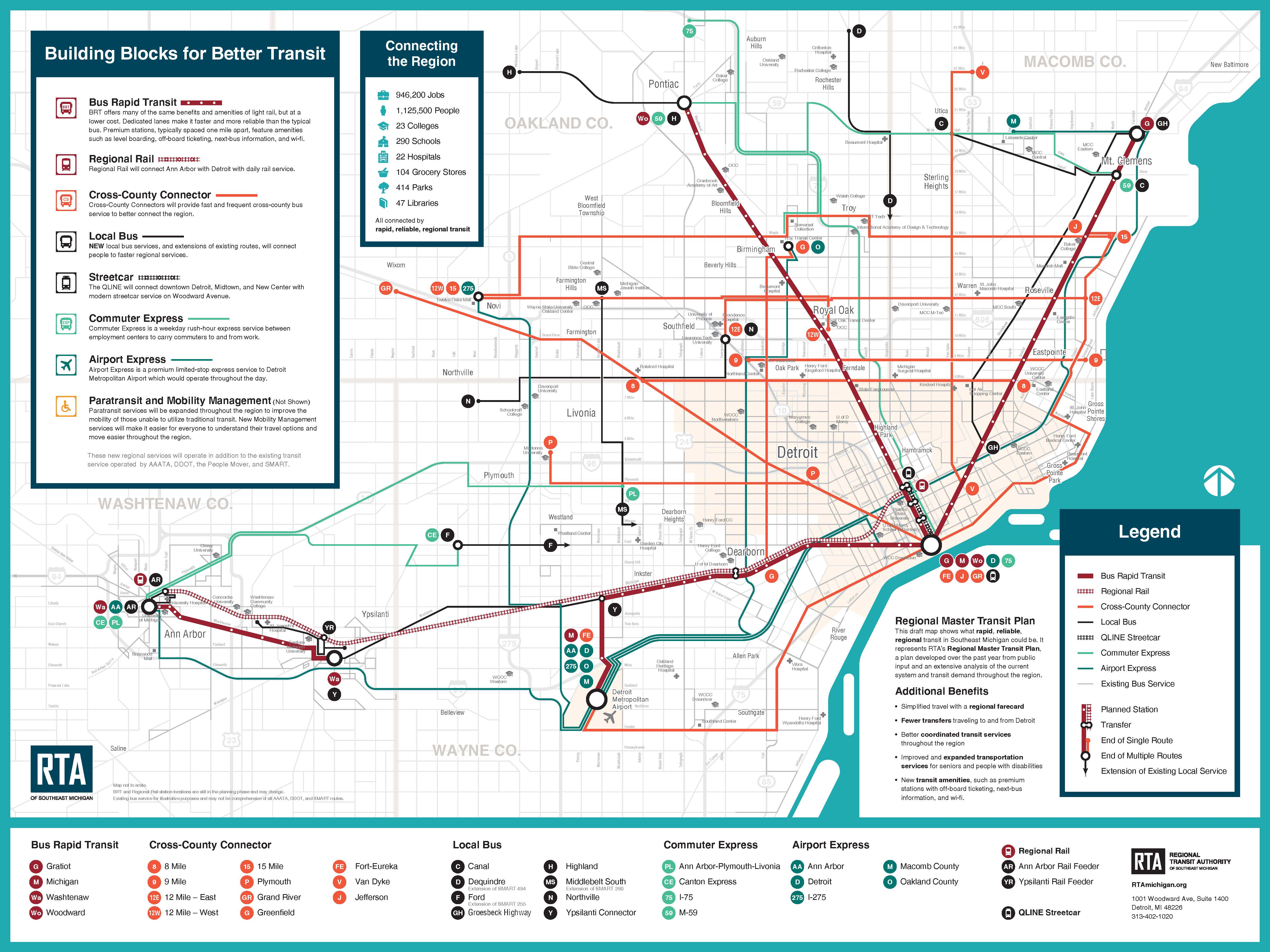 Rta Gives First Look At Master Transit Plan Video Map Wdet